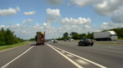 Time lapse driving on A1/M motorway Leeds  Yorkshire UK Stock Footage