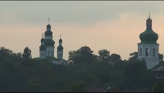 Chernihiv evening landscape Stock Footage