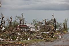 Stock Photo of Tornado Damage & Destruction – EF5 Joplin Missouri Storm Aftermath & Cleanup