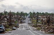 Tornado Damage & Destruction – EF5 Joplin Missouri Storm Aftermath & Cleanup Stock Photos