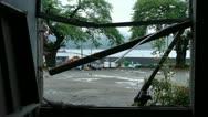 HD - Japan - TSUNAMI - Destroyed school window Stock Footage