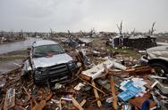 Tornado Damage & Destruction – EF5 Joplin Missouri Storm Aftermath & Cleanup Stock Photos