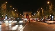 Champs d'Elysees. Timelapse. Slow zoom out. Stock Footage