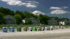 Germany´s First Seaside Resort Heiligendamm - Baltic Sea, Northern Germany Stock Footage
