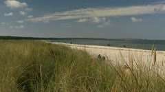 Beautiful Beach in Prerow on Darss Peninsula - Baltic Sea, Northern Germany Stock Footage