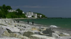 Spa Style in Seaside Resort Town Sassnitz on Rügen Island - Baltic Sea, Germany Stock Footage