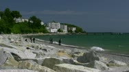 Spa Style in Seaside Resort Town Sassnitz on Rügen Island - Baltic Sea, Germany Stock Footage
