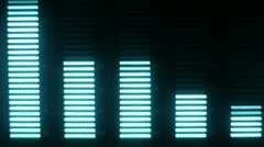 music graphic equalisers spectrum - stock footage