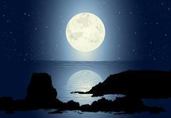 Moonlight Stock Illustration