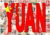 Yuan text with currency Stock Illustration