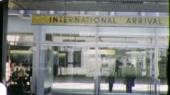 LAX INTERNATIONAL AIRPORT Arrivals Terminal 1960s Vintage Film Home Movie 5930 - stock footage