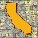 California sign with dollars Stock Illustration