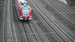 German S-Bahn - stock footage