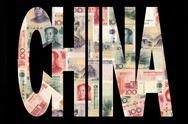 China with currency Stock Illustration