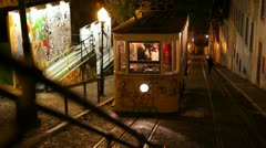 The famous tram 28 in Lisbon Stock Footage
