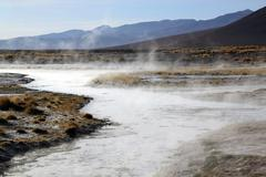 hot springs - stock photo