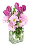 birthday flowers - stock photo