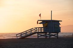 Life guard tower Stock Photos