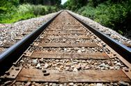 Stock Photo of down the tracks