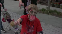 Kid Brain Zombie Stock Footage