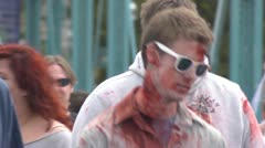 Cool Glasses and Bride Zombie Zombies Stock Footage