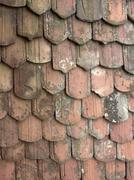 Rundown roof tiles Stock Photos