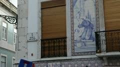 Azulejos in Lisbon 1 Stock Footage