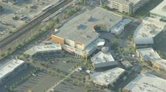 AMC Movie Theater at Outdoor Mall - Aerial 1 Stock Footage