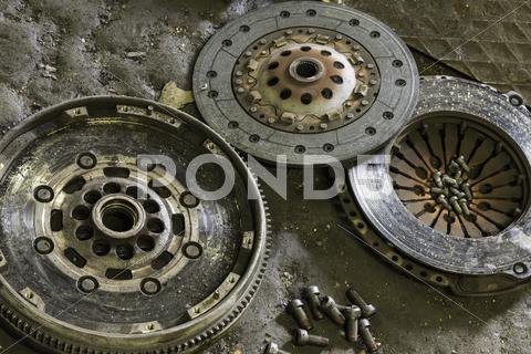 Stock photo of car clutch components