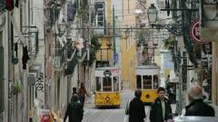 Lisbon trams Stock Footage