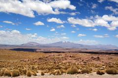 clouds and desert - stock photo