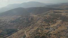 Greece form plane Stock Footage