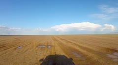 Timelapse driving across the desert Stock Footage