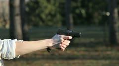 Pistol - stock footage