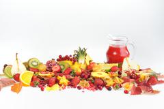 Fresh various fruits Stock Photos
