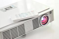 led projector - stock photo