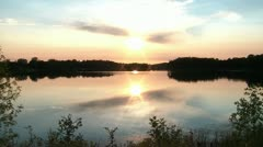 Stock Video Footage of Perfect Lake Sunset