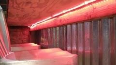 Pink Neon Lights Under Bar Stock Footage