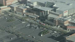AMC Movie Theater and Large Mall - Aerial Stock Footage
