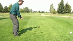 Playing Golf During Business Hours Stock Footage