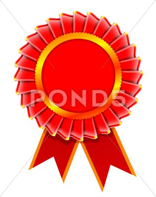 Stock Illustration of illustration of award rosette