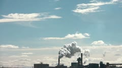 Pollution Fills Blue Sky in Sunlight Stock Footage