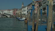 Stock Video Footage of Pan to Grand Canal and Rialto bridge