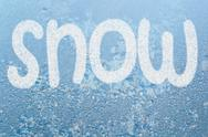 Stock Illustration of frost pattern and word snow