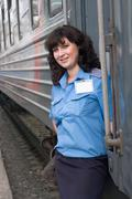 Conductor of the carriage Stock Photos