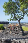 heiau altar - stock photo