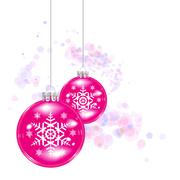 Christmas ball on abstract lights background Stock Illustration