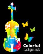 cello, violoncello color background - stock illustration