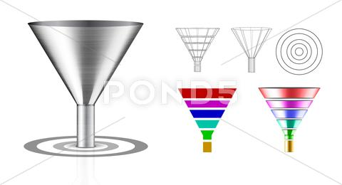 Stock Illustration of conversion funnel