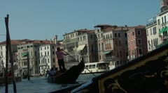 POV from gondola on the Grand Canal Stock Footage